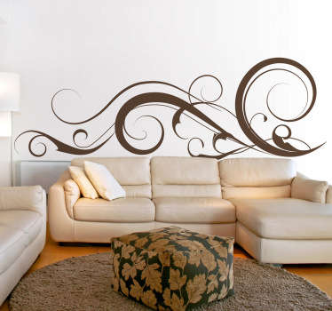 Swirly strokes wall sticker