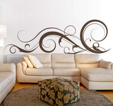 Swirly strokes væg klistermærke