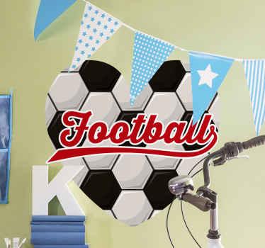 オリジナルの最高品質のビニール、スリル満点のデザイン、サッカー愛好家や10代の寝室向けの装飾から作成されたサッカーウォールステッカー。