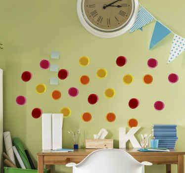 úžasný různobarevný geometrický kruh tvaruje přitažlivost pro děti. Tyto barevné kruhy by byly úžasné pro výzdobu dětského pokoje.