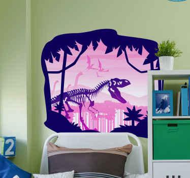 子供の寝室の装飾のための装飾的な恐竜の骨格壁ステッカー。製品は高品質のビニールで作られ、簡単に適用できます。
