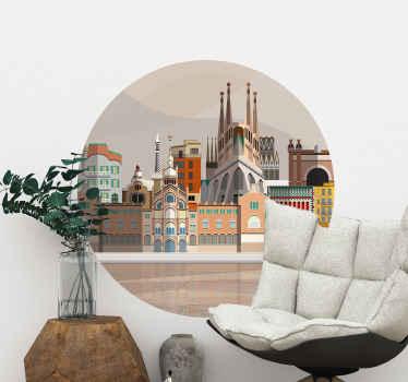 Un incroyable sticker mural Barcelone pour embellir n'importe quelle pièce de votre maison. Produit de qualité avec une application facile !