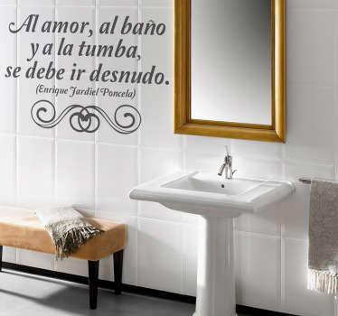 Vinilo decorativo frases lavabo