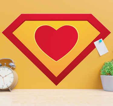 スーパーシンボルスタイルでデザインされた装飾的な愛のステッカー。製品は高品質のビニールでできており、簡単に適用できます。