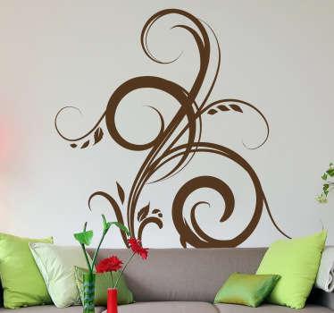 Dekorativ silhuet plante sticker