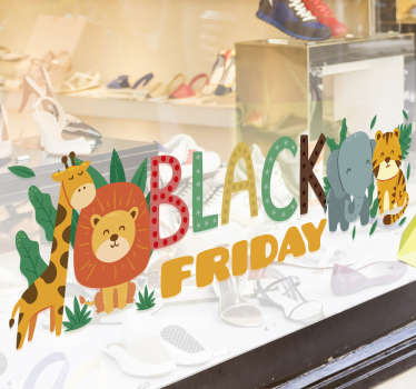 Vinilo texto Black Friday Infantil Selva