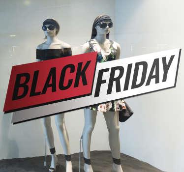 Black Friday window sticker