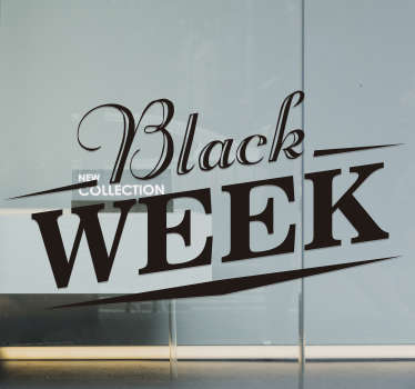 Black week window sale sticker