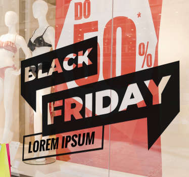 Vinilo decorativo personalizable Black Friday Con Nombre