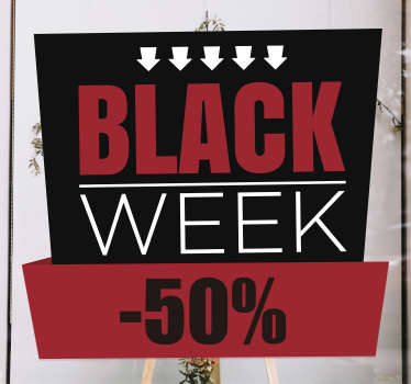 black week sale window sticker