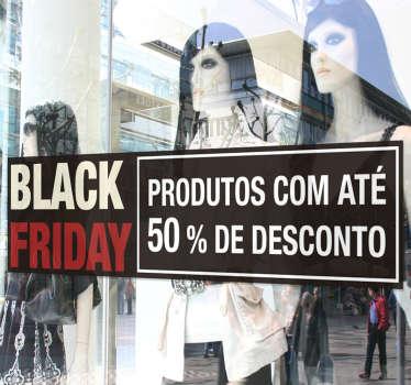 Autocolantes Promoções Black Friday Descontos