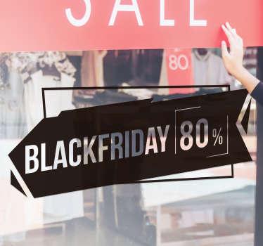 Autocolantes Promoções Black Friday Personalizável