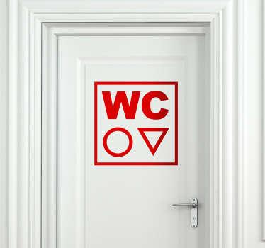 sticker deur aanwijzen WC