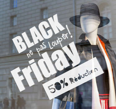 Vitrophanie offres black friday