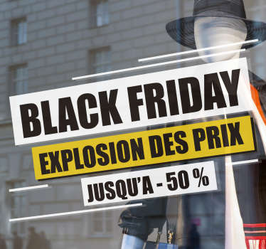 Sticker Texte Personnalisé black friday
