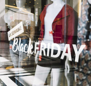Vitrophanie semaine black friday