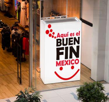 Pegatina rebajas Buen Fin México
