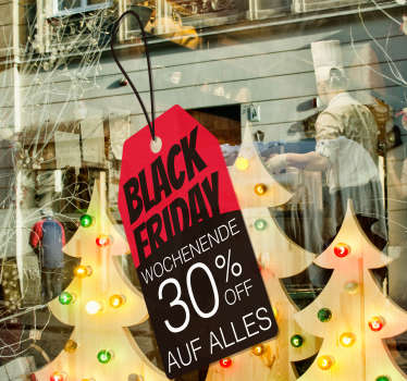 Black Friday Weekend Aufkleber Etikett
