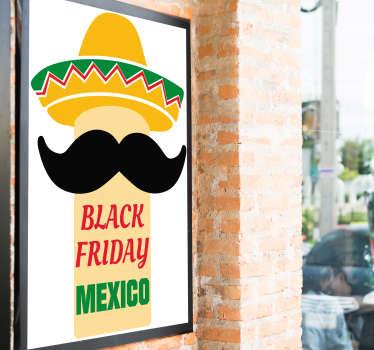Pegatina rebajas black friday mexico