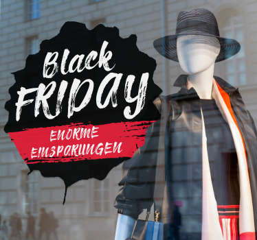Schaufenster Aufkleber Black Friday Enorme Einsparungen