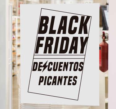 Pegatina rebajas Black Friday Descuentos Picantes