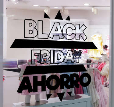 Pegatina rebajas Black Friday Ahorro