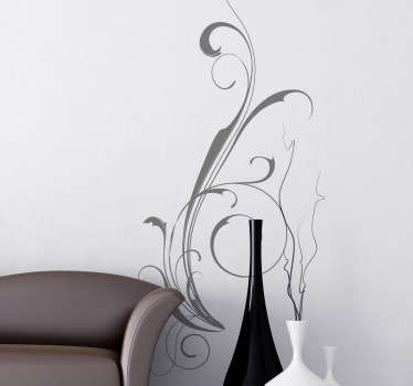 Great sticker with an abstract filigree design for you home. Decorate your home with this extraordinary decal.