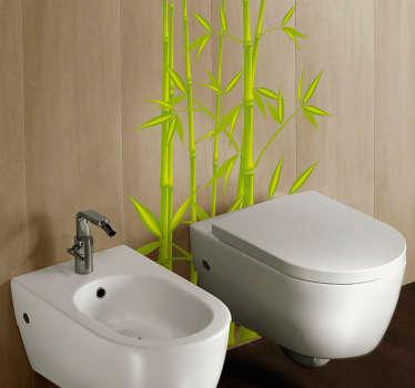 Sticker badkamer bamboe