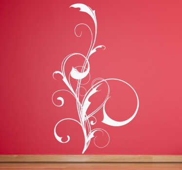 Creative sticker with a vine abstract design for you home. Decorate your walls at home with this perfect decal.