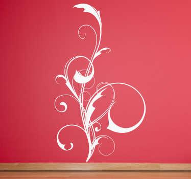 Vinilo decorativo abstracción enredadera