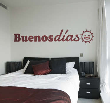 Wallstickers tekst Buenos dias