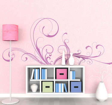 Dekorative filigran vegg klistremerke