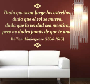 Vinilo decorativo texto Shakespeare