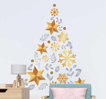 Christmas tree christmas wall sticker