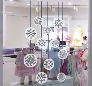 Snowflake window christmas wall sticker
