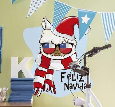 Vinilo Feliz Navidad Chile