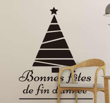Sticker Vitre Noel bonnes fetes fin d'année