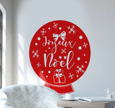 Sticker Vitre Noel boule de sapin