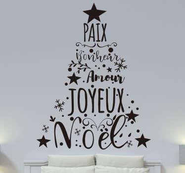 Sticker Vitre Noel sapin artistique