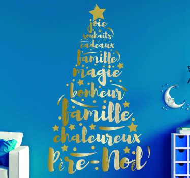 Sticker Vitre Noel sapin magnifique moderne