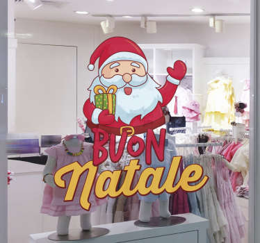 Adesivo Natale babbo natale auguri