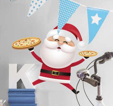 Adesivo Babbo Natale pizzaiolo