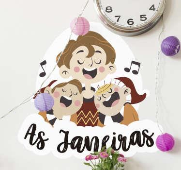 Autocolantes decorativos de Natal As Janeiras