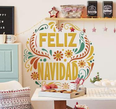 Vinilo de Navidad Feliz Navidad Mexicana