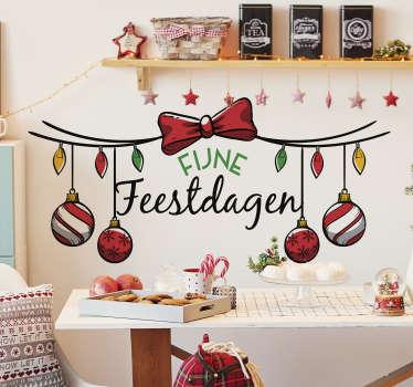 Geweldige kerst raamsticker om je huis mee te decoreren in de gezelligste periode van het jaarwaar je met je gezin van kan genieten.