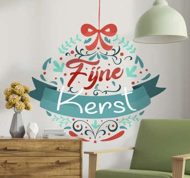 Prachtige kleurvolle kerststicker voor thuis waar je met je gezin van kan genieten tijdens een geweldige periode in het jaar.