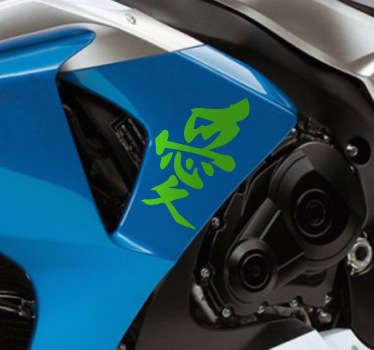 Motorrad Aufkleber chinesisch Frieden