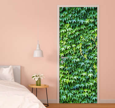 Decorate any door space in the home with this ivy plant door decal with it brilliant natural green and pale yellow appearance of an ivy plant.
