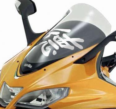 Motorrad Aufkleber chinesisches Zeichen