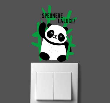 Di seguito vi viene mostrato un fantastico sticker interruttore panda, una fantastica idea per ricordare a tutti di evitare sprechi di alcun tipo.